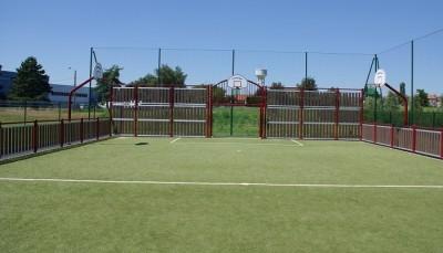 Azurio gazon synth tique pour terrain multisports for Longueur terrain de tennis