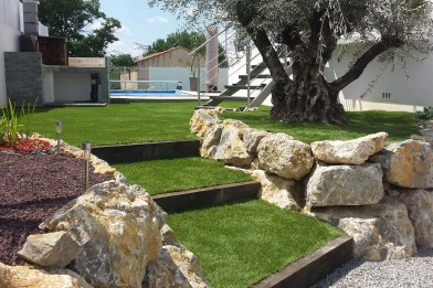 Création en pelouse artificielle : Carré de jardin