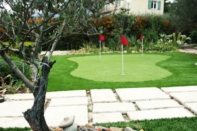 Création en pelouse artificielle : Putting green à la maison