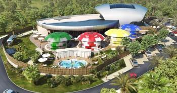 Illustration de Pose d'un gazon hybride pour le nouveau Casino Partouche «plein air» de la Ciotat