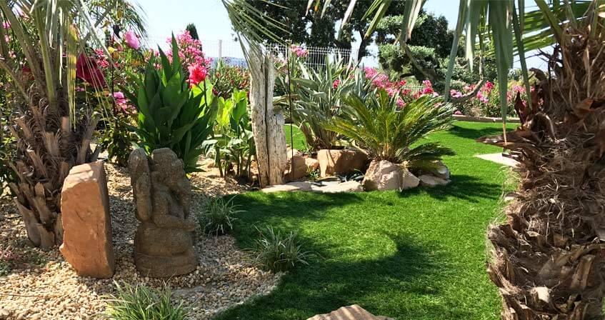 modèles de gazon synthétique pour jardin
