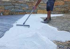 Compacter et niveler avec apport de sable 2