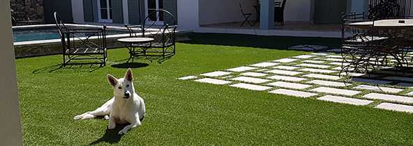 Enlever les salissures sur une pelouse synthétique