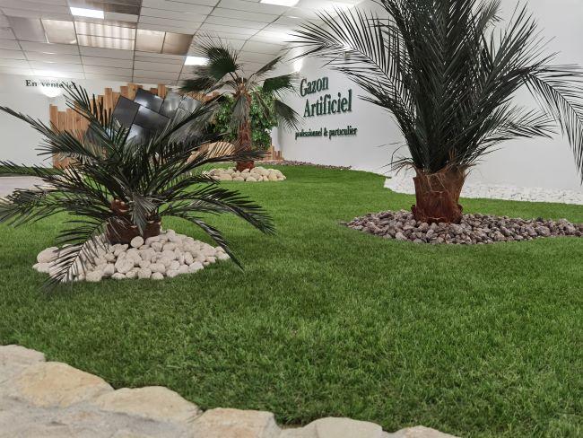 gazon synthétique aménagement paysager